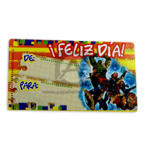 tarjeta para regalos los vengadores Mayorga 1 unidad Niño Pequeña