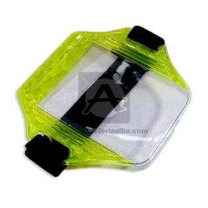 Porta Carnet reflectivo en forma brazalete Escalar Transparente unisex 1 unidad