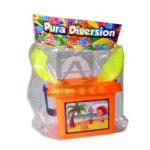juego didáctico  Balde Playero con accesorios plastoy Pura diversión  Proyecciones Plásticas +3 Años  unisex Multicolor Plástico