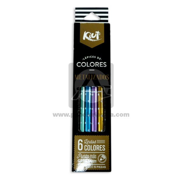 color R/550755 Kiut 6 unidades Metalizado Punta gruesa