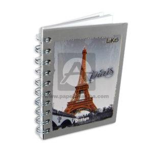 cuaderno argollado Mini Durabook Paris/Francia Lukis 80 hojas cuadriculado unisex