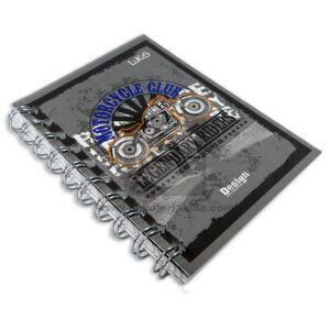 cuaderno argollado Mini Durabook Motorcycle Club Lukis cuadriculado 80 hojas masculino
