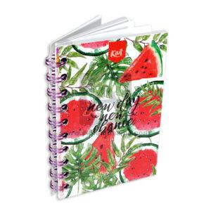 cuaderno argollado Mini New Day New Chance Kiut cuadriculado femenino 80 hojas