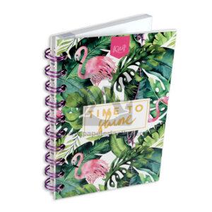 cuaderno argollado Mini/Anotaciones Time to Shine Kiut cuadriculado 80 hojas femenino