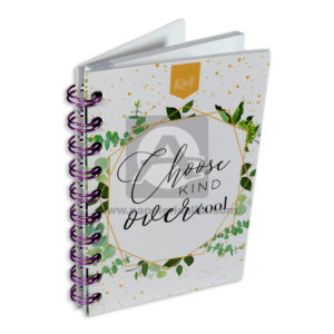 cuaderno argollado Mini/Anotaciones Choose kind over cool Kiut cuadriculado 80 hojas femenino