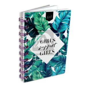 cuaderno argollado girls support girls Kiut femenino cuadriculado 80 hojas