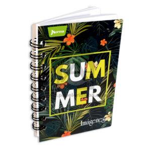 cuaderno argollado Mini/Anotaciones Summer Norma cuadriculado 80 hojas masculino