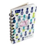 cuaderno argollado  Mini/Anotaciones I Love Pineapple Norma cuadriculado 80 hojas femenino
