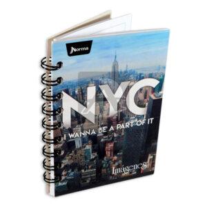 cuaderno argollado Mini/Anotaciones NYC Norma cuadriculado 80 hojas masculino