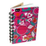 cuaderno argollado  Mini/Anotaciones Corazones de Amor Norma cuadriculado 80 hojas femenino