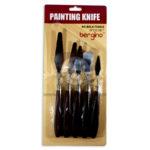 Espátula  painting knife bergino  Geoz 5 Piezas  Metálico