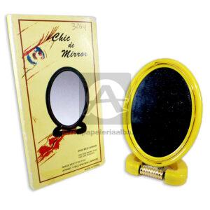 espejo Doble Chic de mirror Novo-plus amarillo Pequeño femenino pasta
