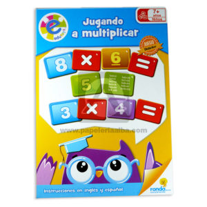 rompecabeza jugando a multiplicar edutoys Ronda + 4 Años unisex Inglés / Español