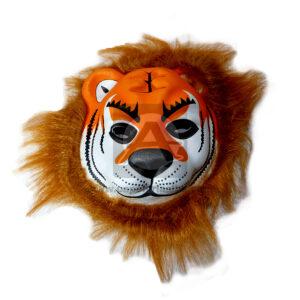 Mascara de animal Tigre Duran Rueda naranja Foamy unisex Grande