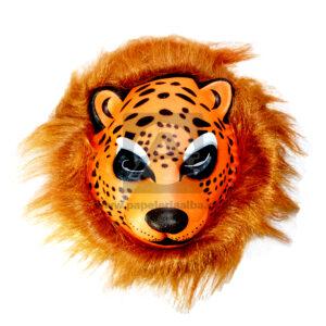 Mascara de Animal Leopardo Duran Rueda Fomy naranja unisex Grande