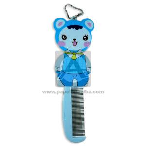peine con espejo infantil figura de oso s-3341 Cuantias Azul Cielo Mediano Niña