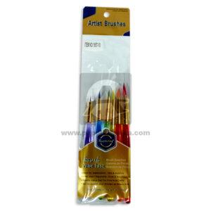 Pincel artist brushes N°1657-10 Distri Once Surtido 6 unidades Punta fina