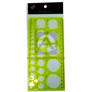 plantilla de circulos Longas Verde Lima 20 cm