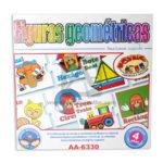 rompecabeza juego didáctico  Figuras Geométricas  para crear jugando AA-6330 Cuantias Mediano + 4 Años unisex Multicolor 1-4 Jugadores 12 unidades