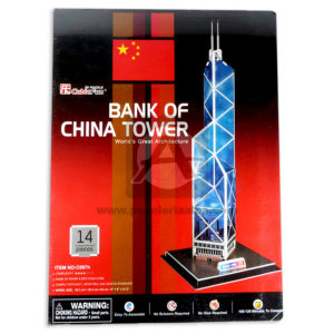 rompecabeza 3D Bank of China Tower C097H El Puntazo +3 Años Grande
