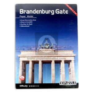 rompecabeza brandenburg gate paper model Cuantias +6 Años Grande 32 piezas