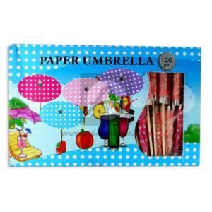 accesorio de decoración sombrillas de papel Megadistribiciones Pequeña Surtido Caja 120 Unidades