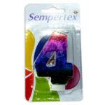 vela  Número 4 Tornasol gradiente Candles  Sempertex Grande unisex Multicolor