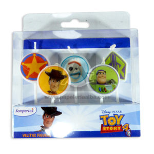 vela Toy Story 4 Sempertex 5 Unidades Pequeña unisex