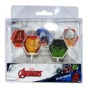 vela Marvel avengers Sempertex 5 Unidades Pequeña Niño