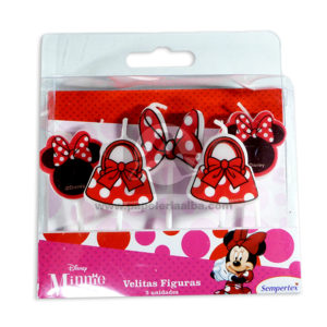 vela personaje Disney Minnie Sempertex Niña 5 Unidades Pequeña
