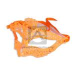 Antifaz   Guipur N° 5214-40 Fival naranja Neón femenino Tela