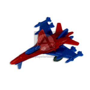 Avión mini N° 418 Cuantias Azul Rojo Niño 1 unidad