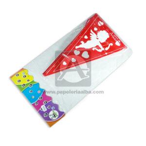 Banderín silueta de cupido con corazones Panda 1 unidad 2.40 Metros blanco Rojo