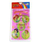 Bolsa sorpresa  pequeñas princesas colors parties Cuantias Rosado 20 unidades Niña