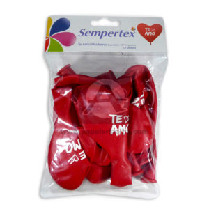 Bomba-Globo-Corazón-Te-amo!-Impresa-Sempertex-R-12-12-unidades-Rojo