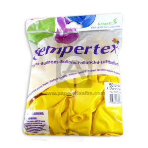 Bomba Globo Fashion #001 Sempertex R-12 12 unidades amarillo