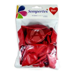 Bomba Globo Corazón Te Quiero! impresa Sempertex R-12 12 unidades Rojo