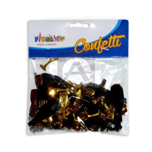 Confetti para mesa copas de vino Fival Dorado Metalizado unisex