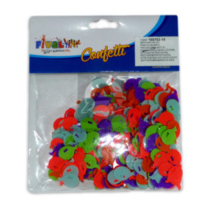 Confetti para mesa estilo globitos Fival Metalizado Surtido unisex