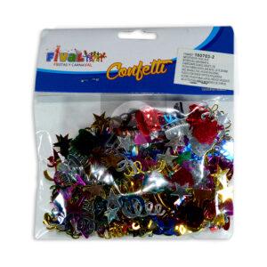 Confetti para mesas motivo de estrellas Fival Metalizado Surtido unisex