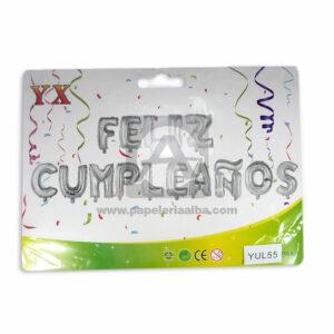 Globo Letras Feliz Cumpleaños 16 Surtifantasias Plateado 15 Unidades unisex