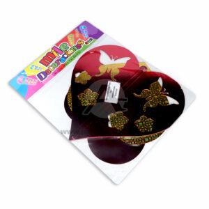 Móvil Holograma Corazón con Mariposas Mile Decoraciones Rojo 1 unidad Mediano