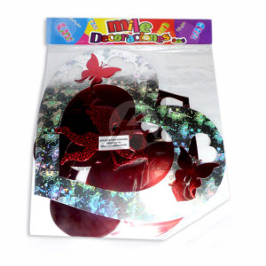 Móvil Holograma Corazón y Cupido Mile Decoraciones 1 unidad Plateado Rojo Grande