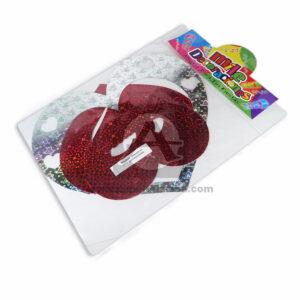 Móvil Holograma Forma Corazón 3 Tamaños Mile Decoraciones Plateado Rojo 1 unidad Grande