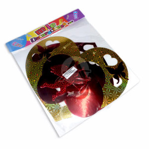 Móvil Holograma forma de Corazón con Cupido Mile Decoraciones Dorado Rojo 1 unidad Grande