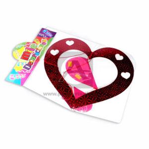Móvil Holografico Forma de Corazón H7 Mile Decoraciones Fucsia Rojo 1 unidad Mediano