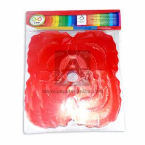 festón Tipo Arco Doble C y M Rojo 8 Metros unisex