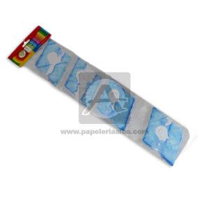 festón tipo rombo N° 8510 CyM Azul blanco unisex