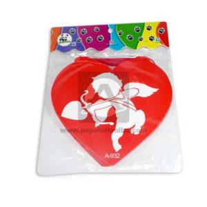 guirnalda Forma corazón con la Silueta de Cupido Mega Import blanco Rojo 1 unidad