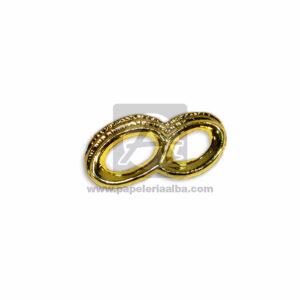 recordatorio de Matrimonio Dos anillos de compromiso Unidos Mega Import Dorado 1 unidad Pequeño